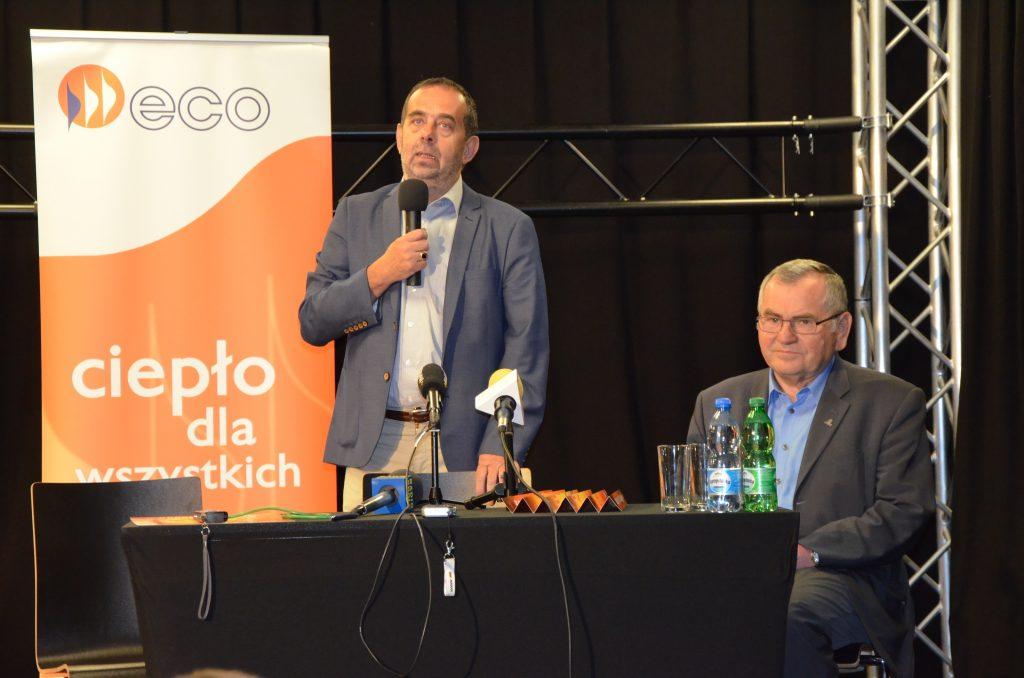 Prof. dr hab. Marek Masnyk - Rektor Uniwersytetu Opolskiego i Wiesław Chmielowicz - Prezes ECO